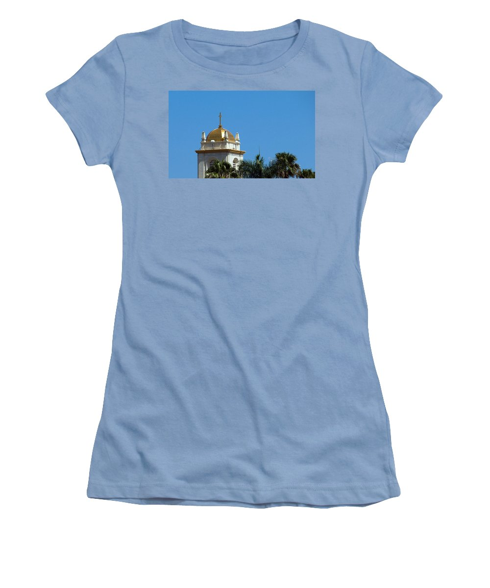 Lake Women's T-Shirt (Athletic Fit) featuring the photograph Florida Church by Allan Hughes