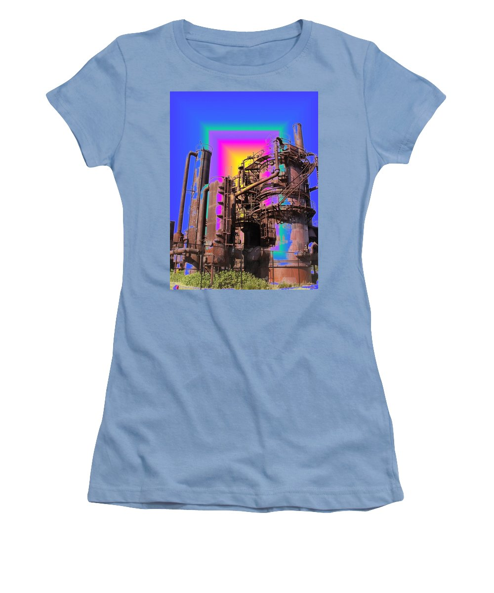Seattle Women's T-Shirt (Athletic Fit) featuring the photograph Gasworks Park 3 by Tim Allen
