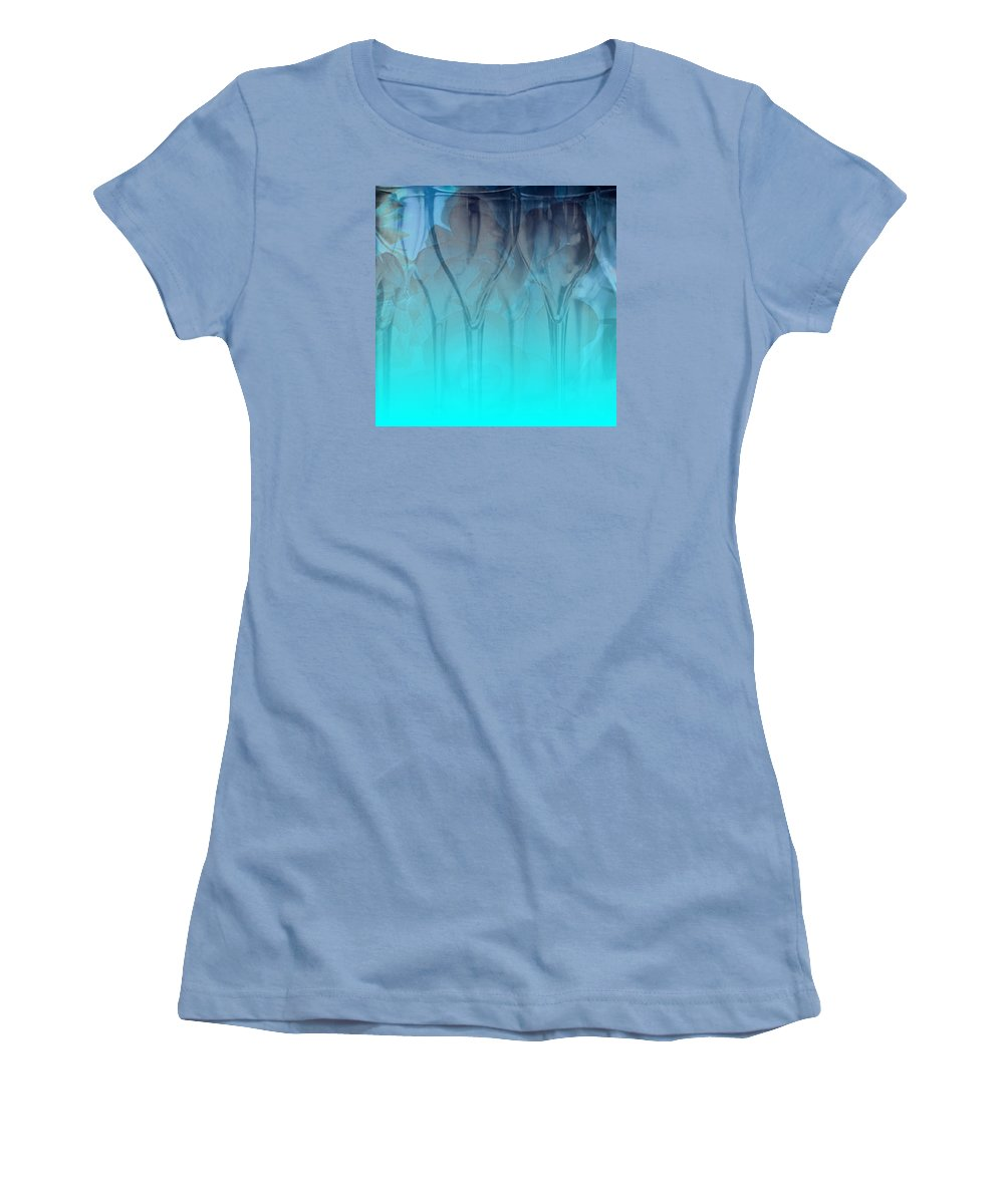 Glasses Women's T-Shirt (Athletic Fit) featuring the digital art Glasses Floating by Allison Ashton