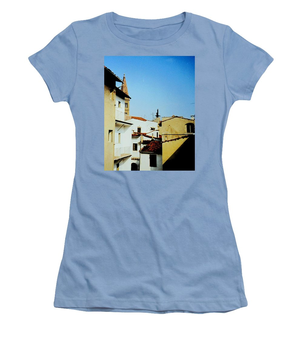 Lisbon Women's T-Shirt (Athletic Fit) featuring the photograph Lisbon Angles by Ian MacDonald