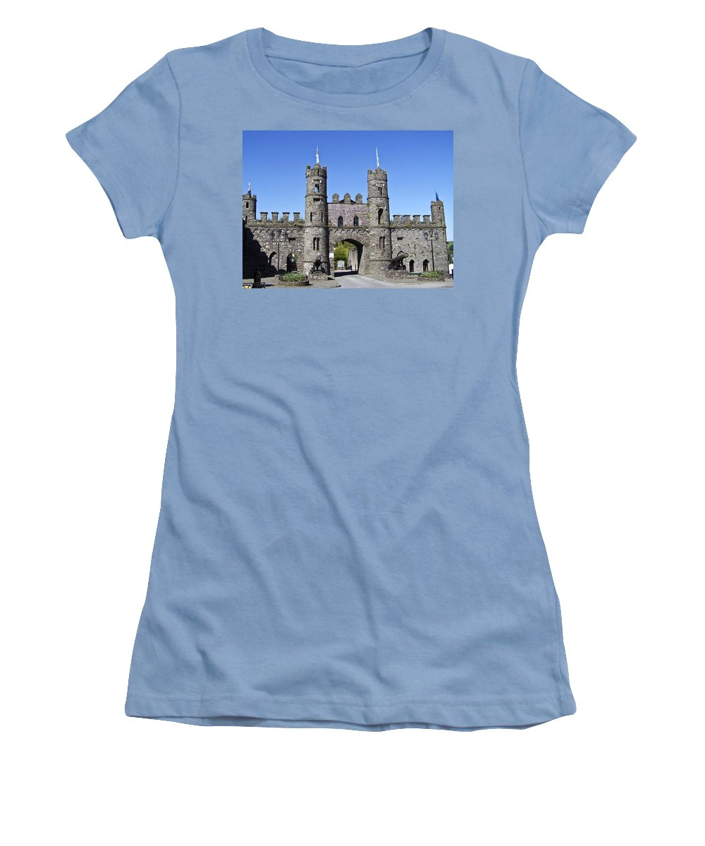 Irish Women's T-Shirt (Athletic Fit) featuring the photograph Macroom Castle Ireland by Teresa Mucha