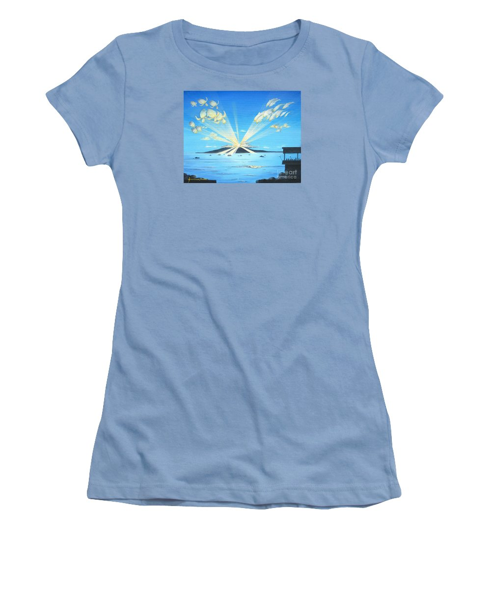 Maui Women's T-Shirt (Athletic Fit) featuring the painting Maui Magic by Jerome Stumphauzer