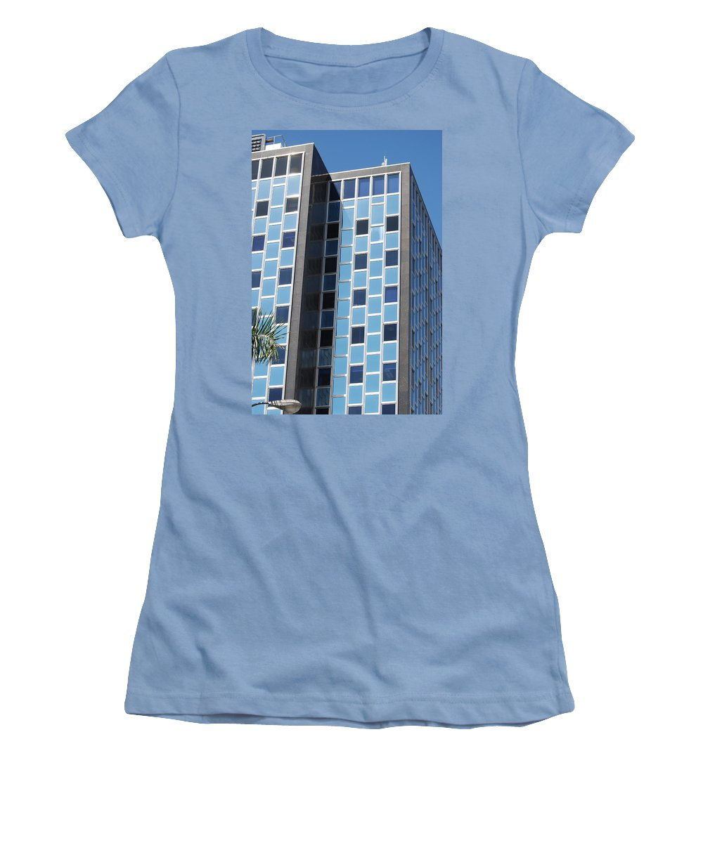 Architecture Women's T-Shirt (Athletic Fit) featuring the photograph Miami Checker Board by Rob Hans