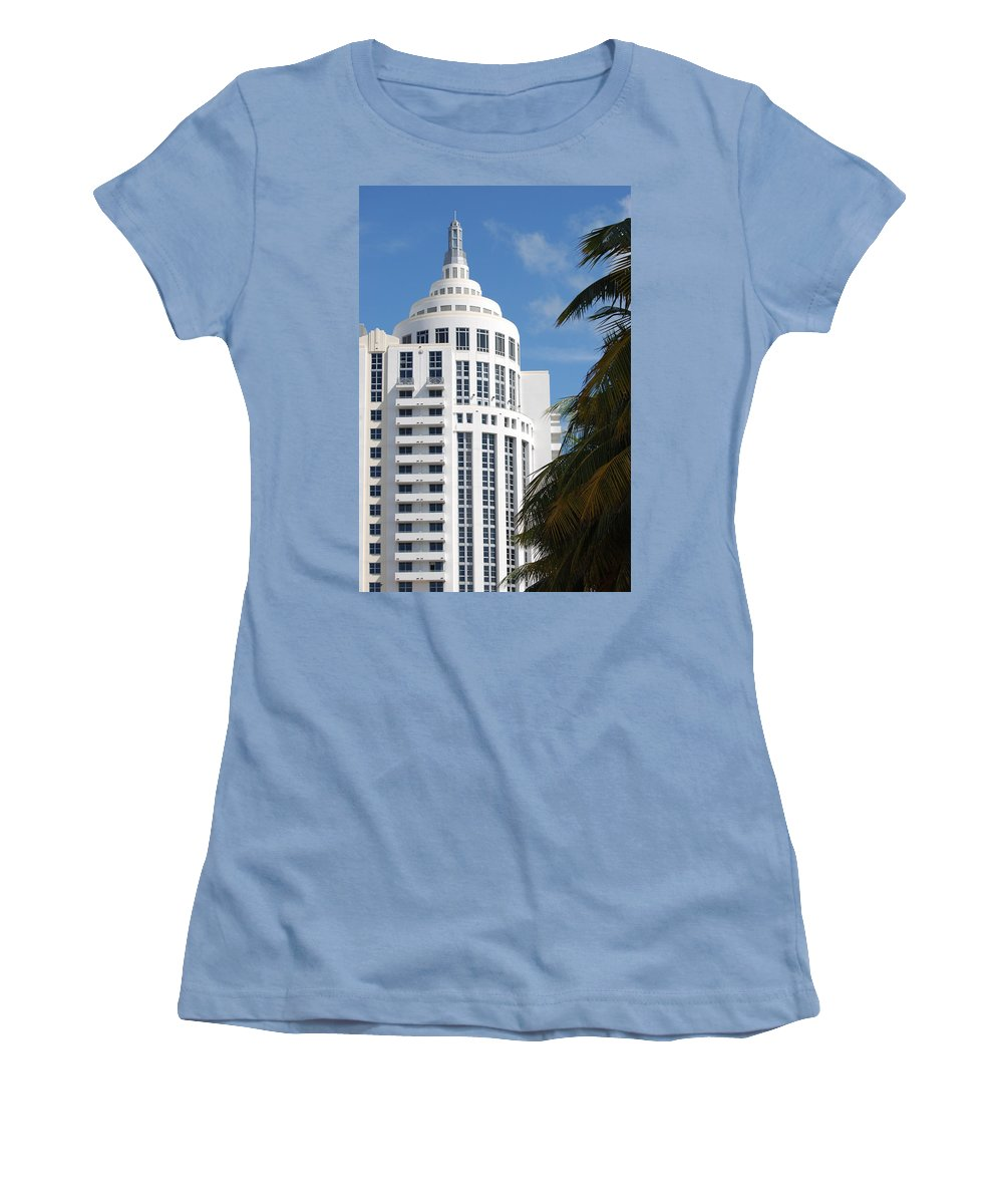 Architecture Women's T-Shirt (Athletic Fit) featuring the photograph Miami S Capitol Building by Rob Hans