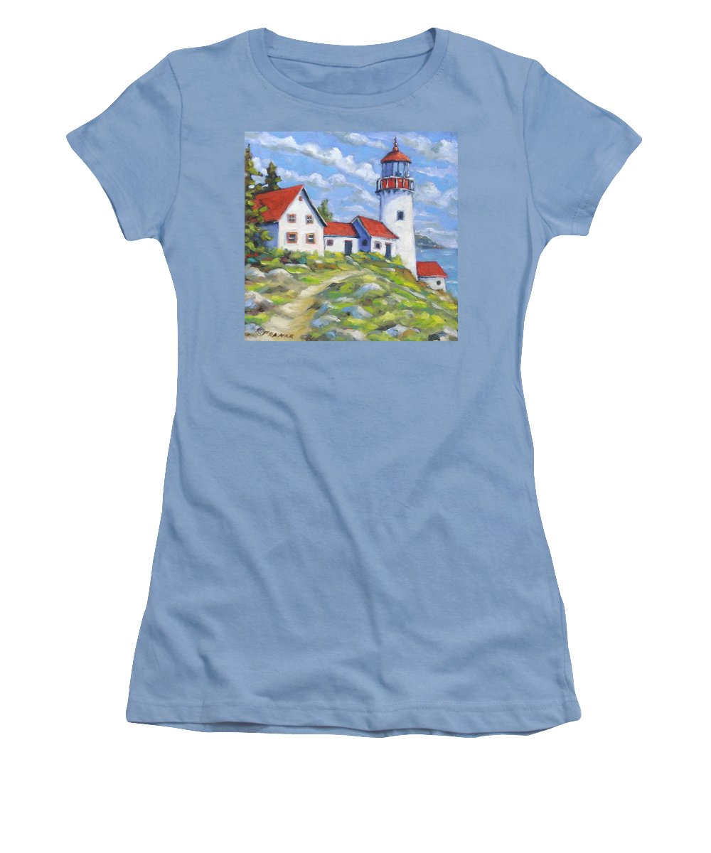 Art Women's T-Shirt (Athletic Fit) featuring the painting Paradise On The Point by Richard T Pranke