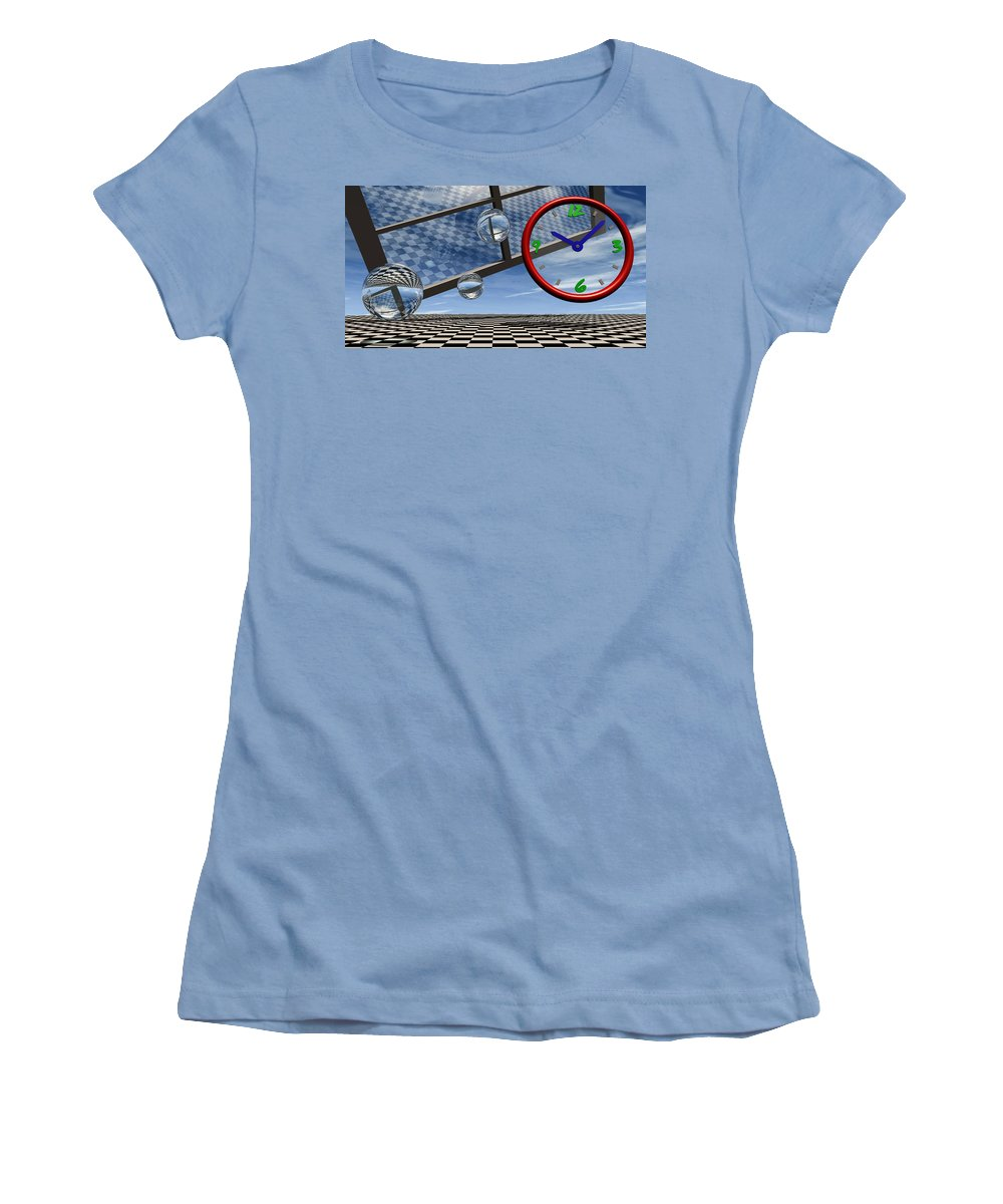 Surreal Women's T-Shirt (Athletic Fit) featuring the digital art Play Time by Richard Rizzo