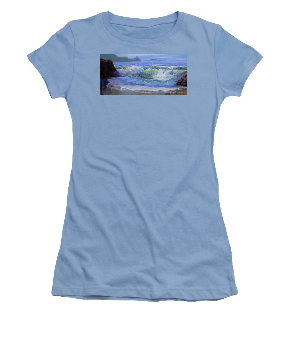 Seascape Women's T-Shirt (Athletic Fit) featuring the painting Point Reyes by Heather Coen