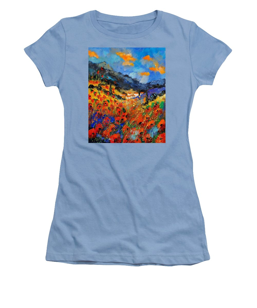 Women's T-Shirt (Athletic Fit) featuring the painting Provence 459020 by Pol Ledent