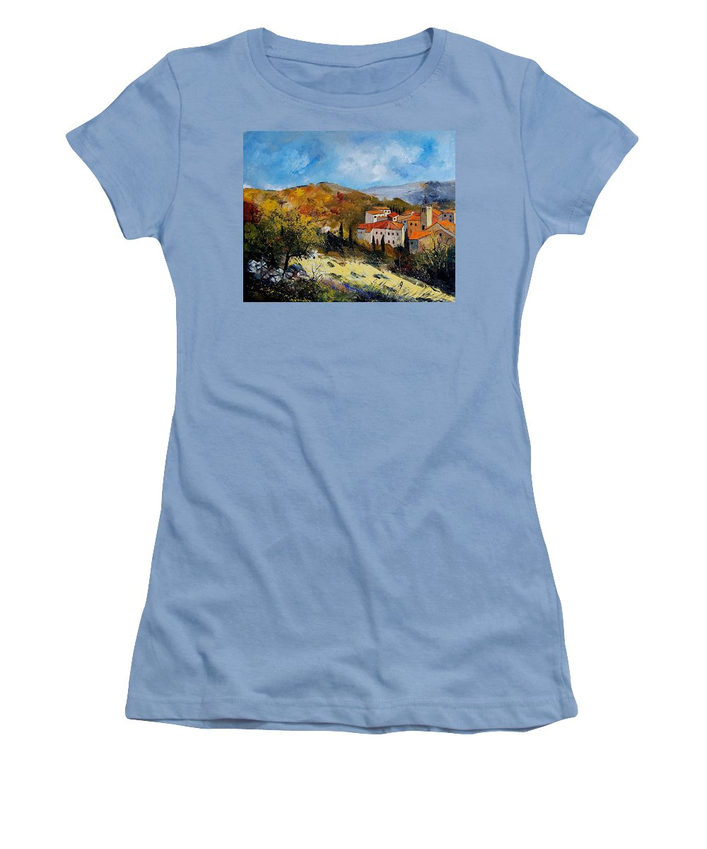 Provence Women's T-Shirt (Athletic Fit) featuring the painting Provence 679050 by Pol Ledent