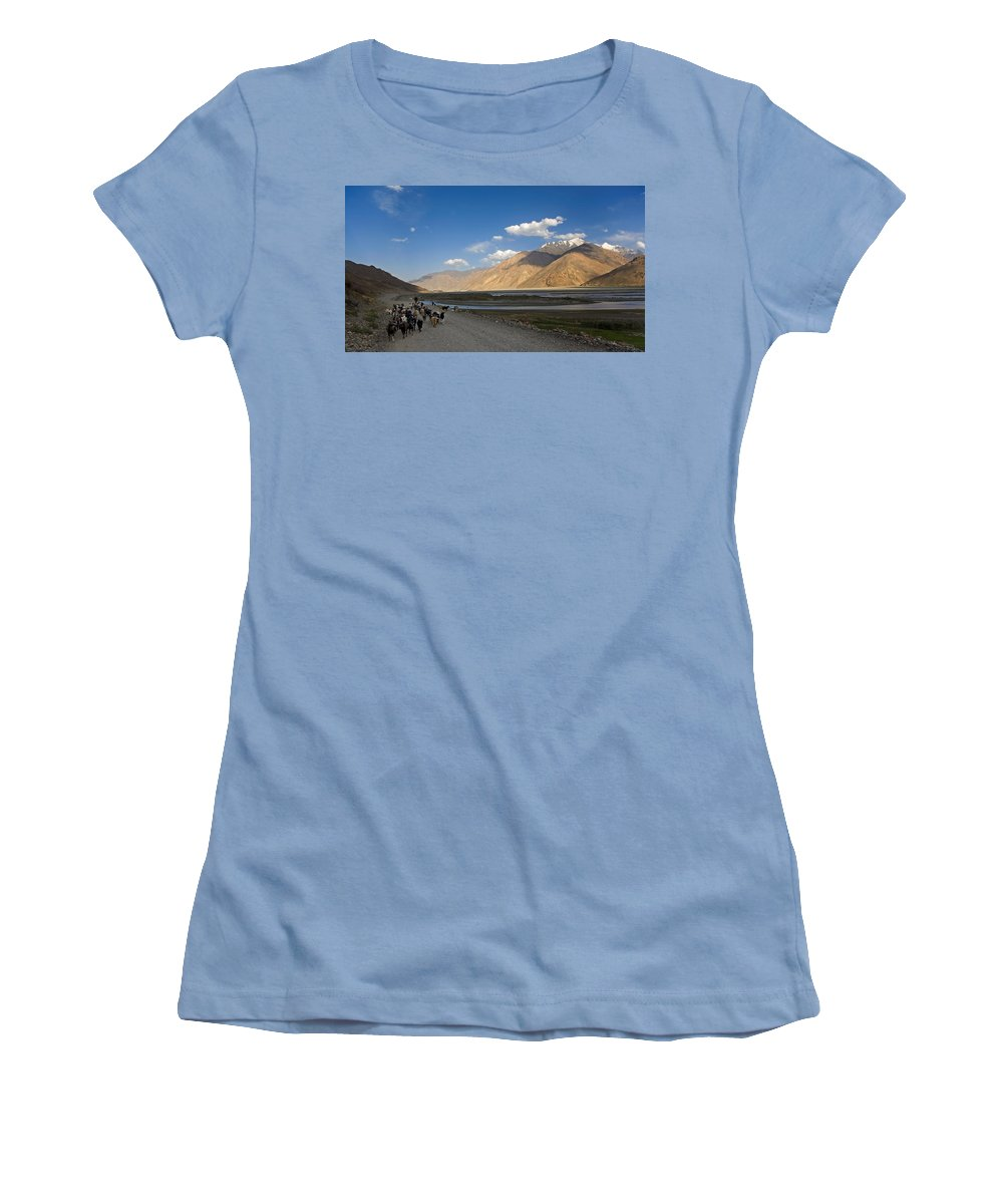 Animal Women's T-Shirt (Athletic Fit) featuring the photograph Pyandzh Valley by Konstantin Dikovsky