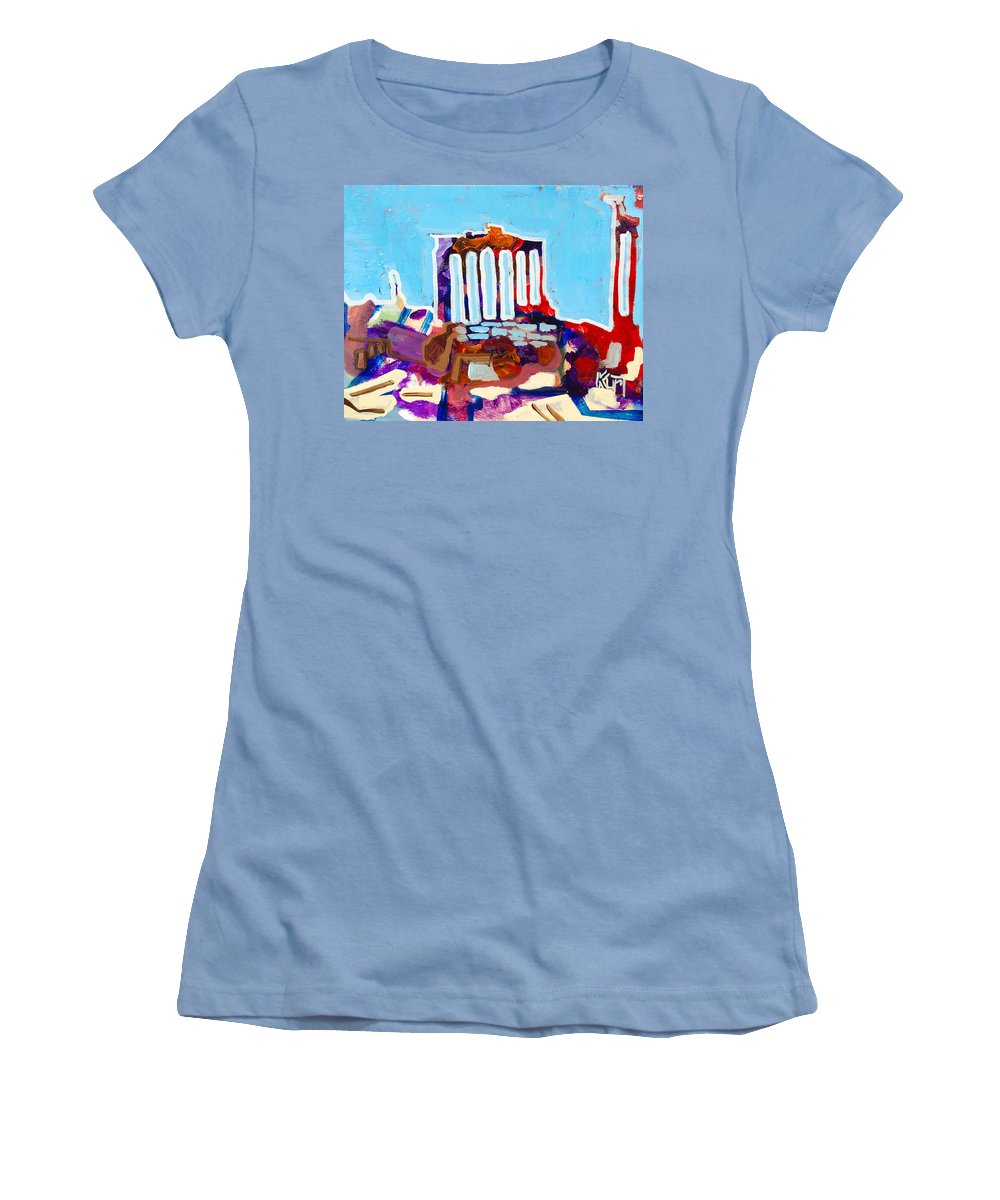 Rome Women's T-Shirt (Athletic Fit) featuring the painting Rome by Kurt Hausmann