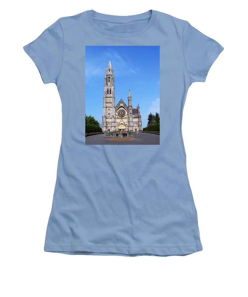 Ireland Women's T-Shirt (Athletic Fit) featuring the photograph Sacred Heart Church Roscommon Ireland by Teresa Mucha
