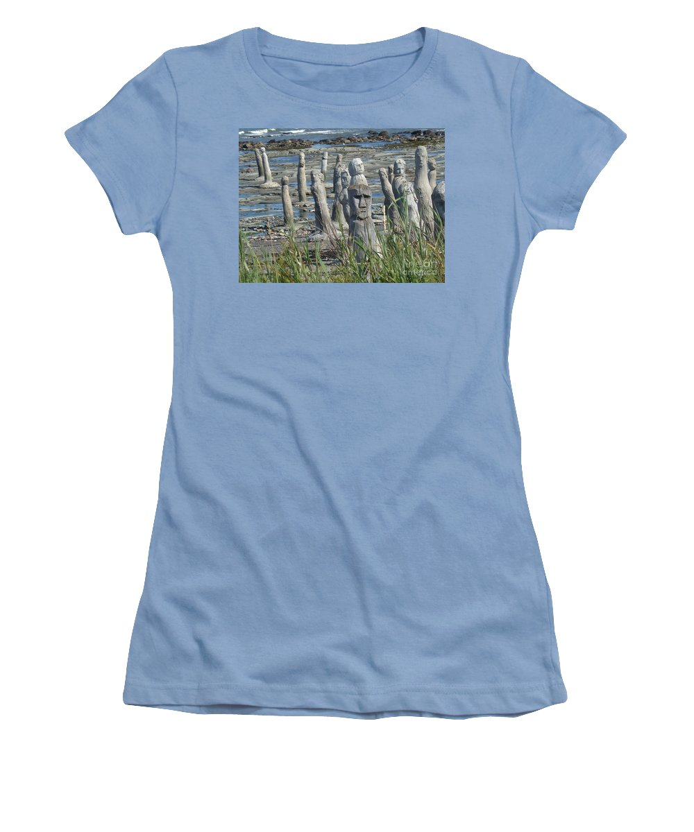 Landscape Women's T-Shirt (Athletic Fit) featuring the photograph Ste Flavie by Line Gagne