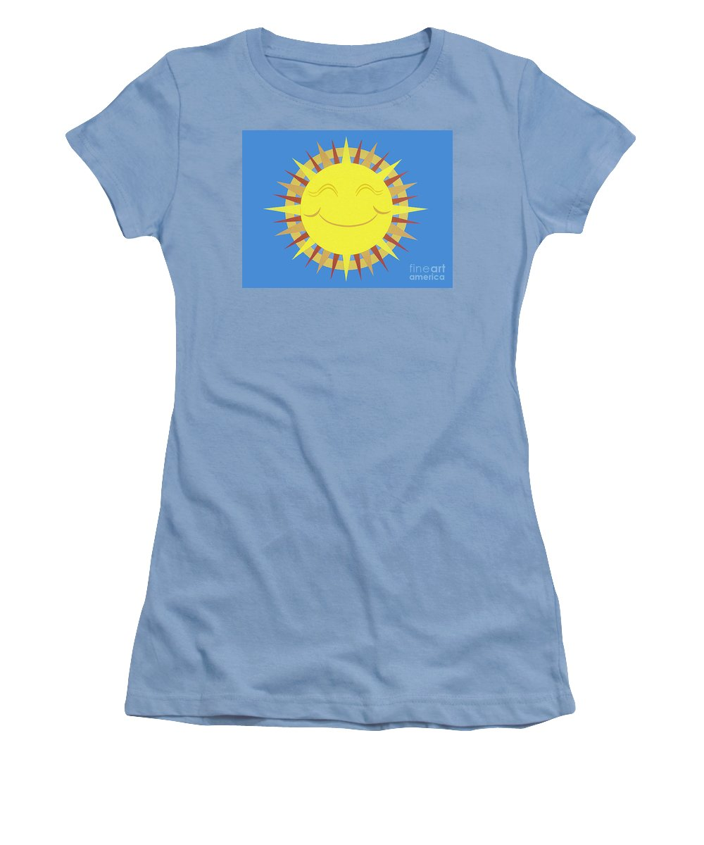Nature Women's T-Shirt (Athletic Fit) featuring the drawing Sunshine by Lucyna A M Green