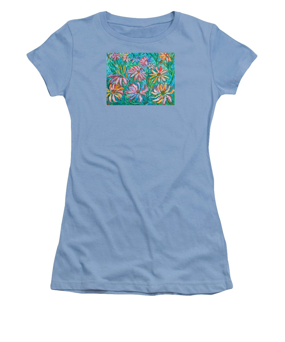 Impressionist Women's T-Shirt (Athletic Fit) featuring the painting Swirling Color by Kendall Kessler