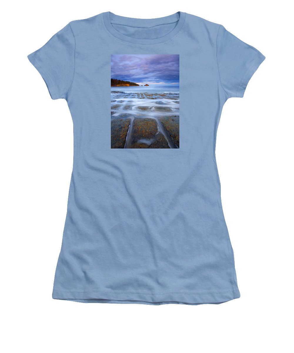 Sunset Women's T-Shirt (Athletic Fit) featuring the photograph Tesselated Sunset by Mike Dawson