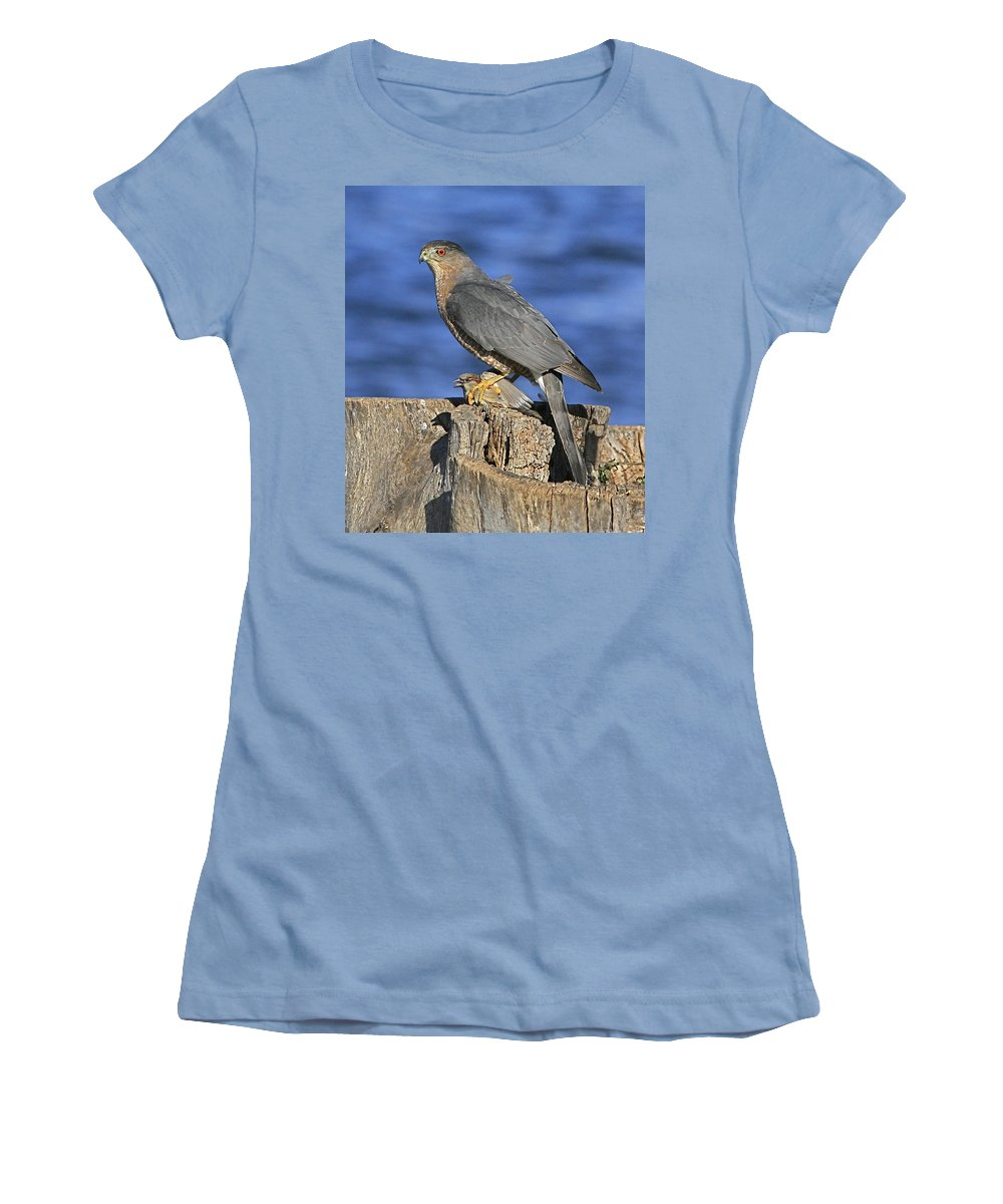 Cooper Women's T-Shirt (Athletic Fit) featuring the photograph The Catch by Robert Pearson