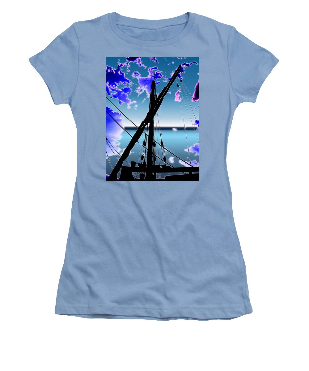 Seattle Women's T-Shirt (Athletic Fit) featuring the digital art The Nina Mast by Tim Allen