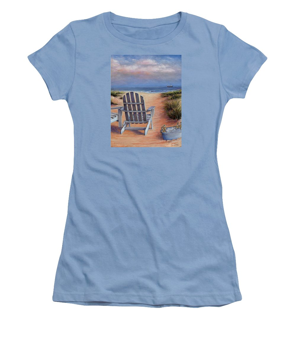 Landscape Women's T-Shirt (Athletic Fit) featuring the pastel Time To Chill by Susan Jenkins