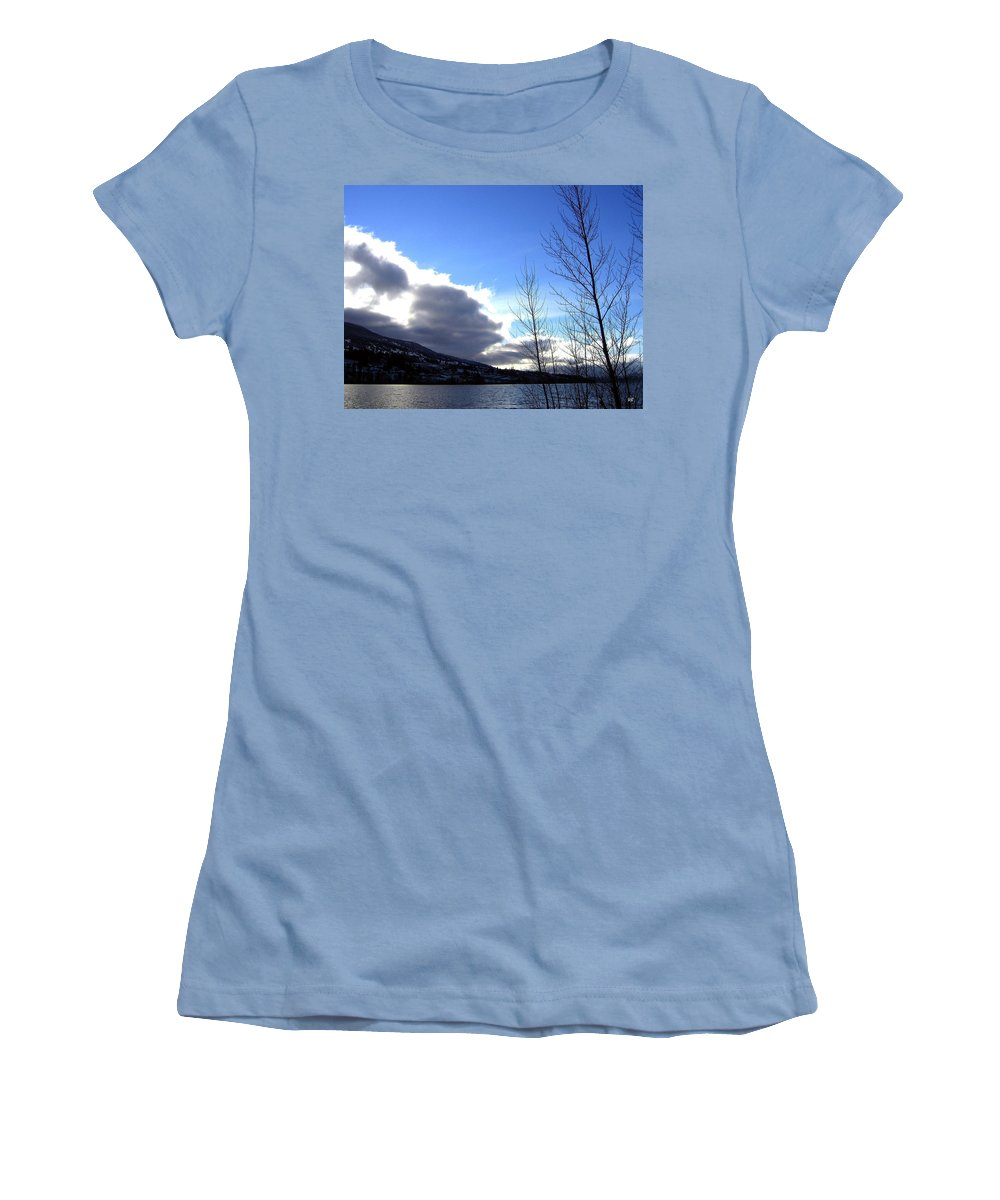 Sunrise Women's T-Shirt (Athletic Fit) featuring the photograph Wood Lake Sunrise by Will Borden