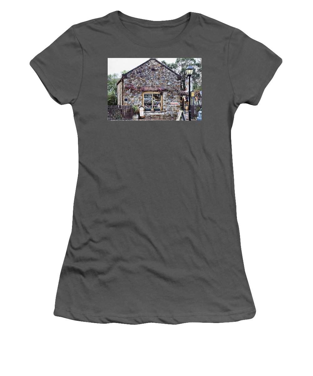 German Women's T-Shirt (Athletic Fit) featuring the photograph German Stone Cottage by Douglas Barnard