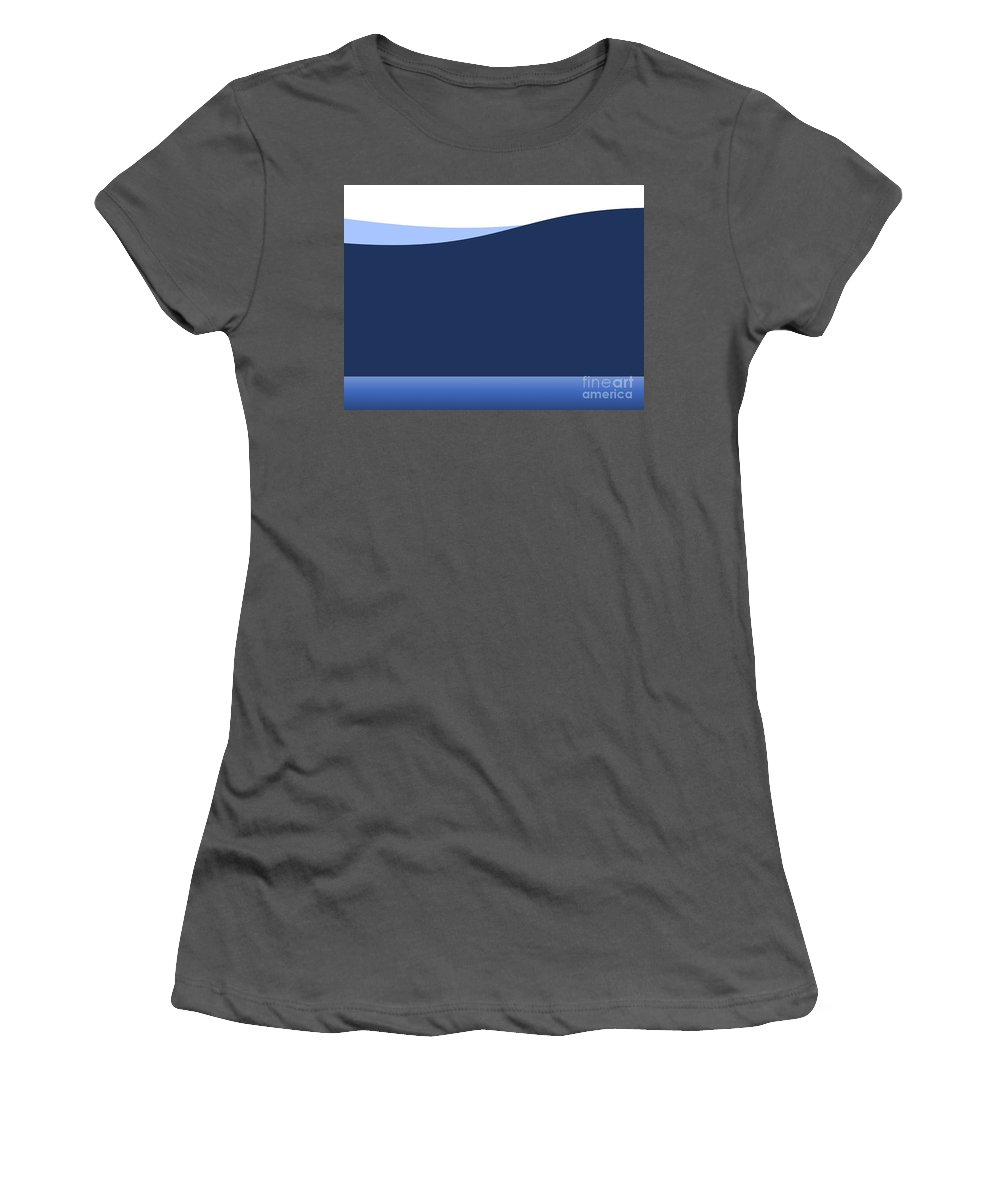 Website Women's T-Shirt (Athletic Fit) featuring the digital art Background Wave by Henrik Lehnerer