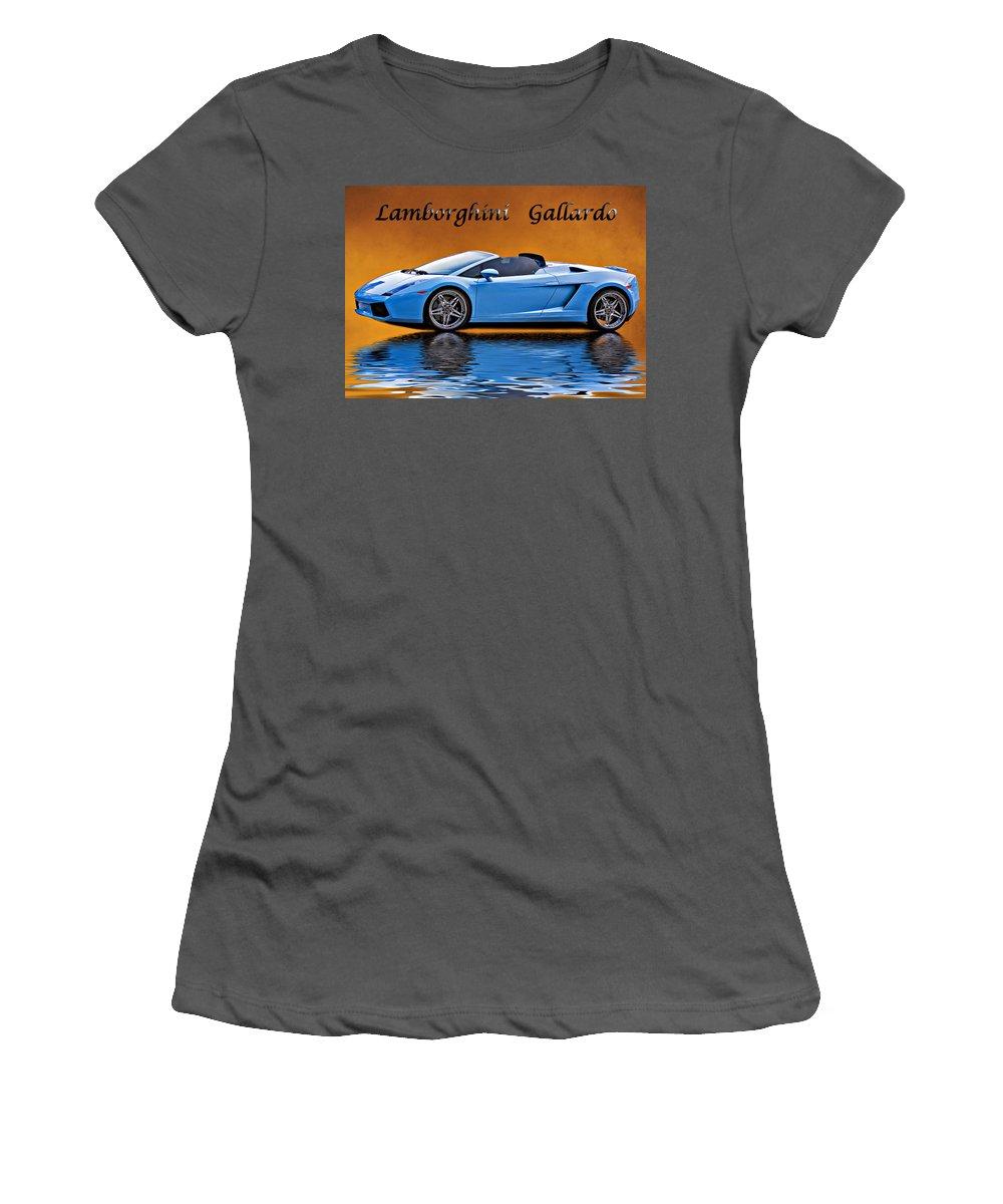 Car Women's T-Shirt (Athletic Fit) featuring the photograph Lamborghini Gallardo by Steve Harrington