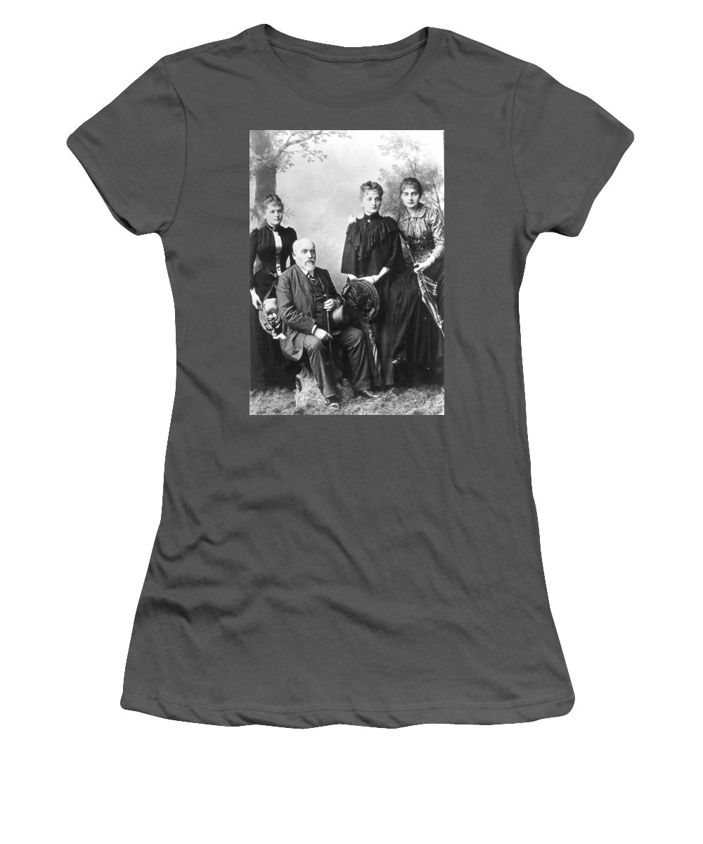1880s Women's T-Shirt (Athletic Fit) featuring the photograph Marie Curie (1867-1934) by Granger