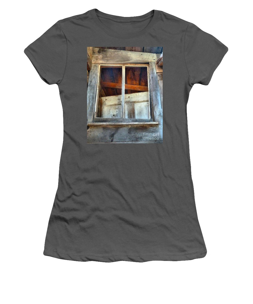Abstract Women's T-Shirt (Athletic Fit) featuring the photograph Mix Up by Lauren Leigh Hunter Fine Art Photography