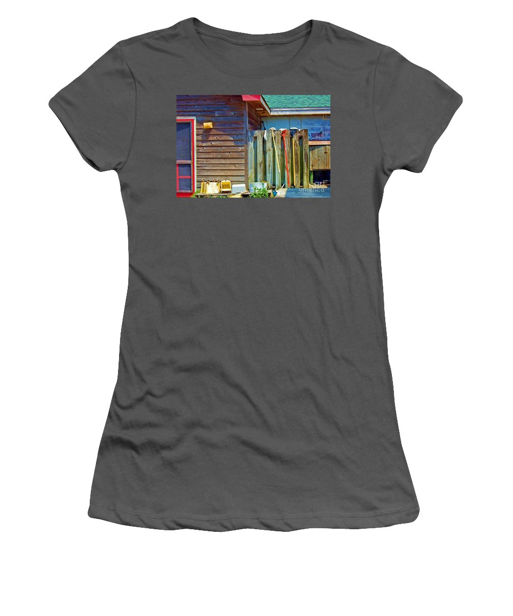 Building Women's T-Shirt (Athletic Fit) featuring the photograph Out To Dry by Debbi Granruth