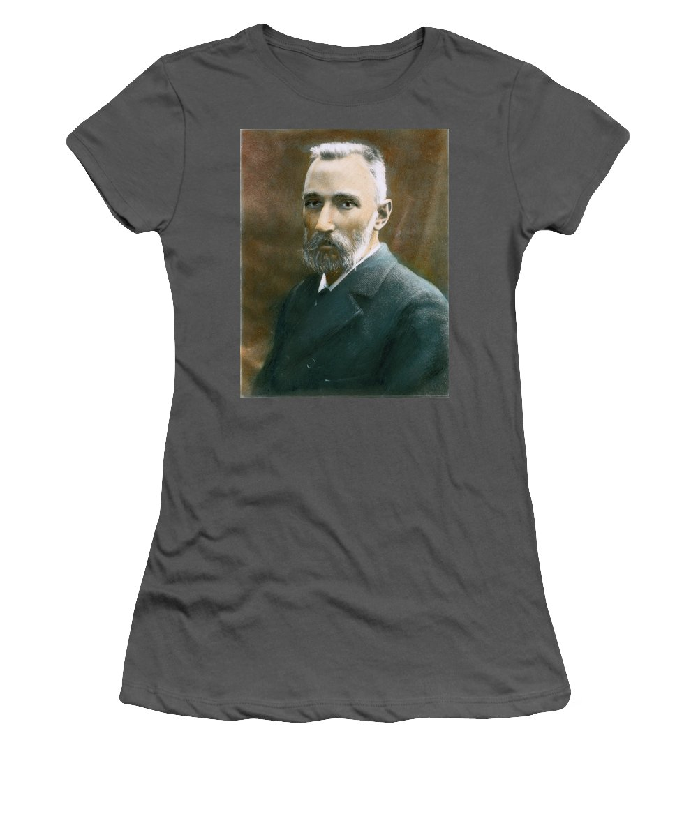 19th Century Women's T-Shirt (Athletic Fit) featuring the photograph Pierre Curie (1859-1906) by Granger
