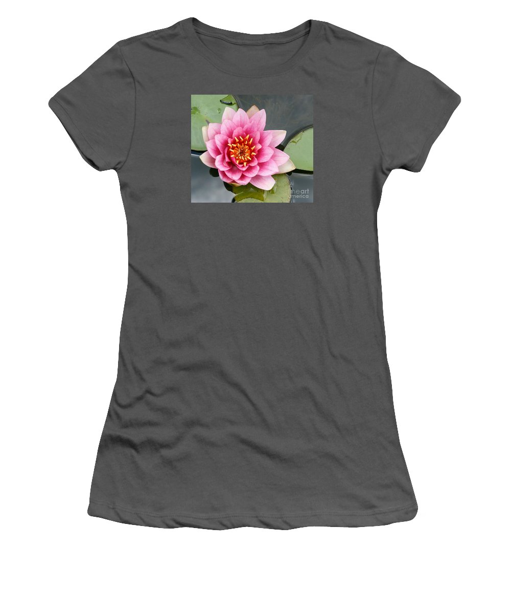 Lily Women's T-Shirt (Athletic Fit) featuring the photograph Pink Waterlily by Christiane Schulze Art And Photography