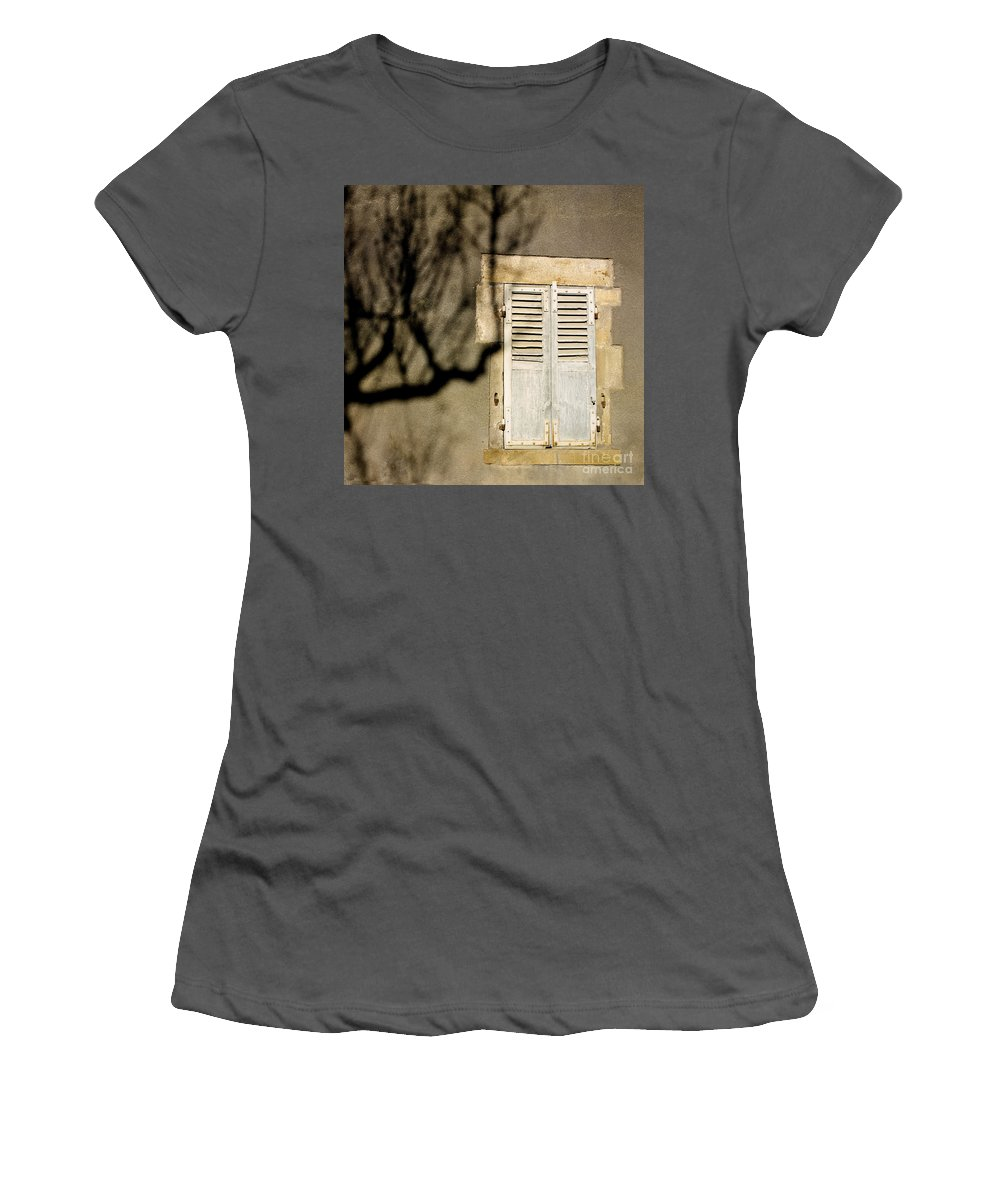 Outdoors Women's T-Shirt (Athletic Fit) featuring the photograph Tree Shadow by Bernard Jaubert