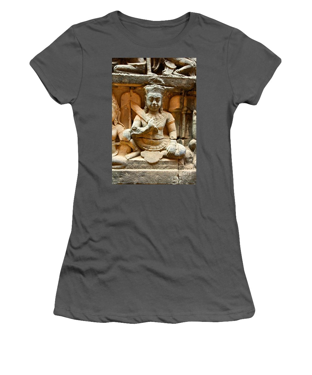Religious Women's T-Shirt (Athletic Fit) featuring the photograph Angkor Thom by David Davis