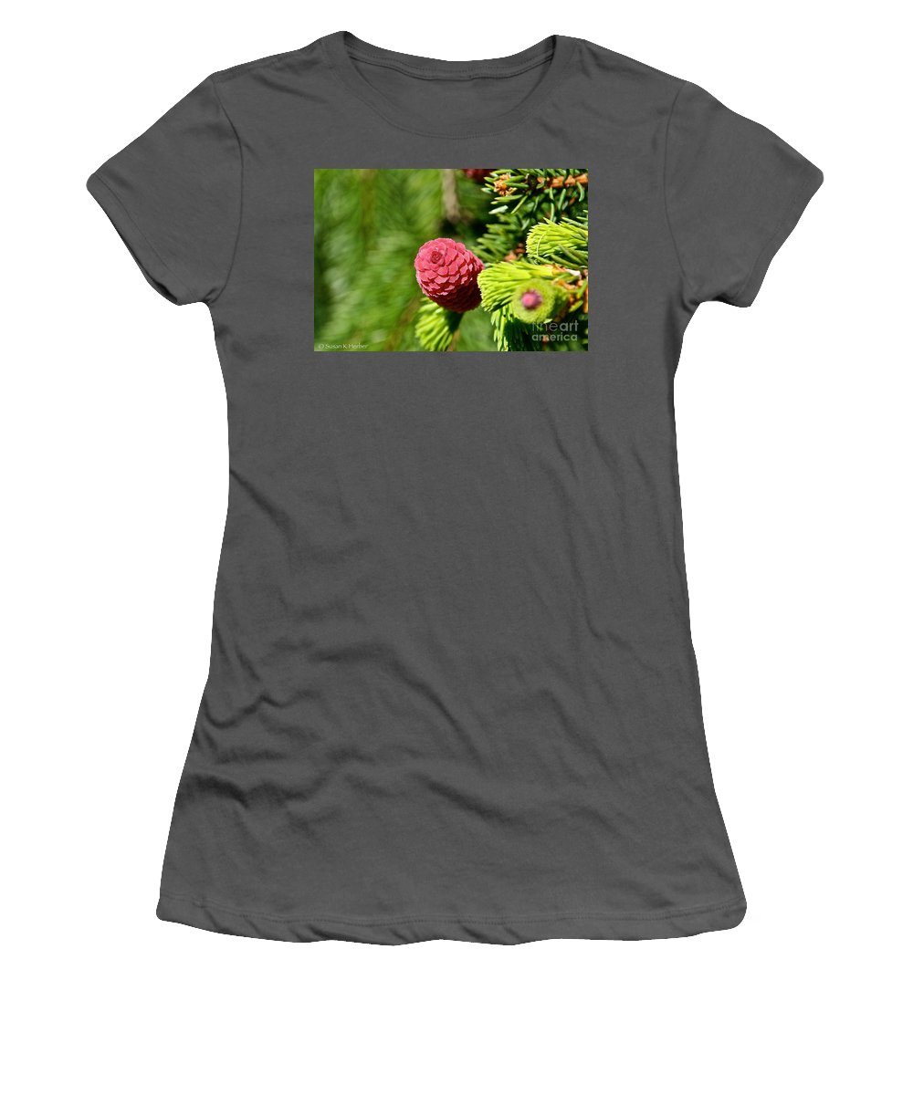 Tree Women's T-Shirt (Athletic Fit) featuring the photograph Cone Top by Susan Herber