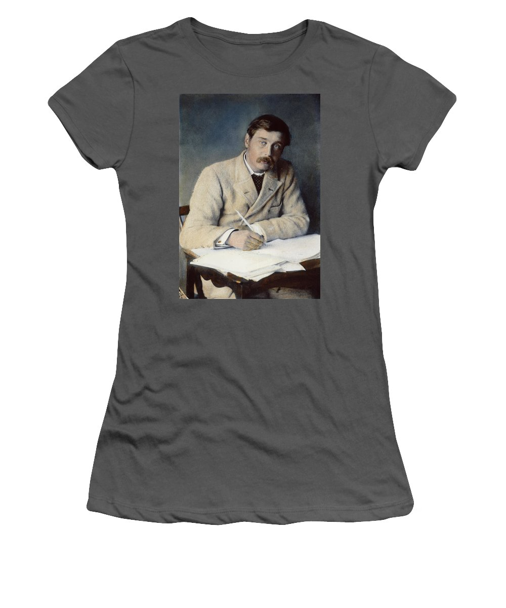 1896 Women's T-Shirt (Athletic Fit) featuring the photograph Herbert George Wells (1866-1946) by Granger