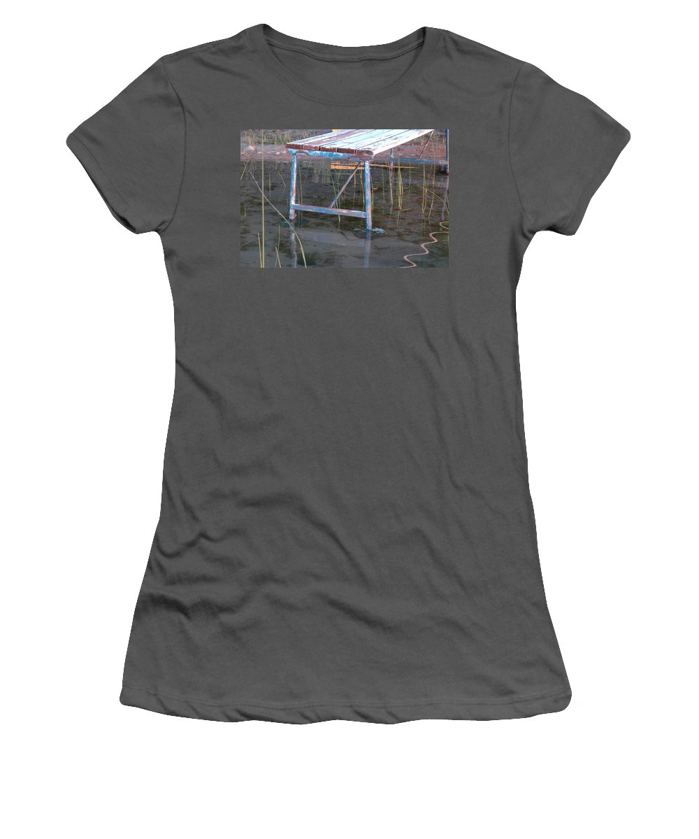 Landscape Women's T-Shirt (Athletic Fit) featuring the photograph Old Dock 2 by Scott Angus