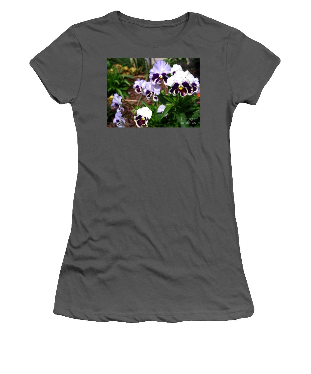 Mccombie Women's T-Shirt (Athletic Fit) featuring the photograph Pansy From The Chalon Supreme Primed Mix by J McCombie