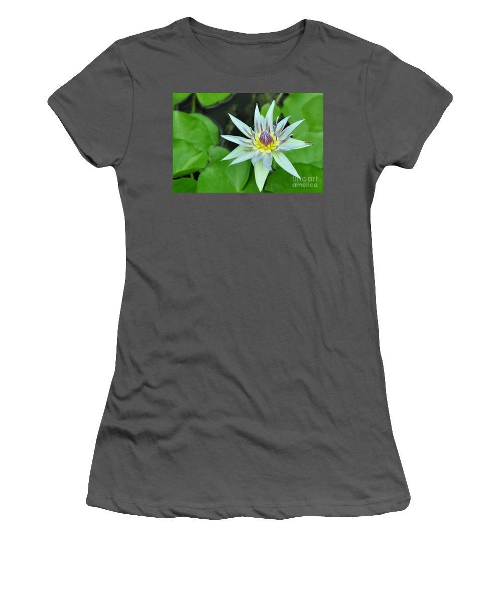 Water Lillies Women's T-Shirt (Athletic Fit) featuring the photograph Water Lily 3 by Allen Beatty
