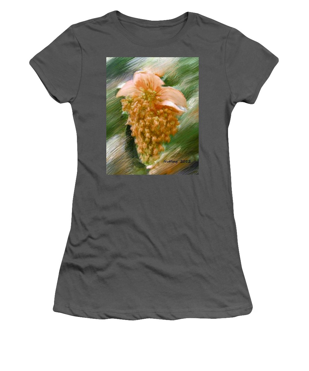 Color Women's T-Shirt (Athletic Fit) featuring the painting Colorful Grapes by Bruce Nutting
