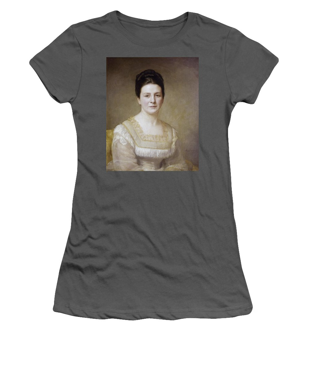 1880 Women's T-Shirt (Athletic Fit) featuring the painting Edith K by Granger