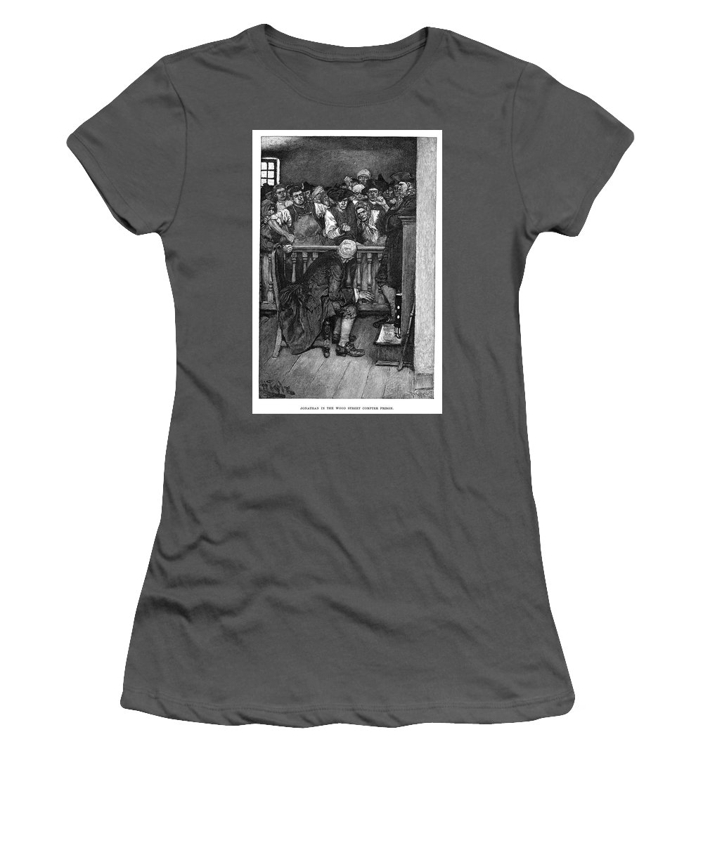 1710 Women's T-Shirt (Athletic Fit) featuring the painting Jonathan Wild (c1682-1725) by Granger