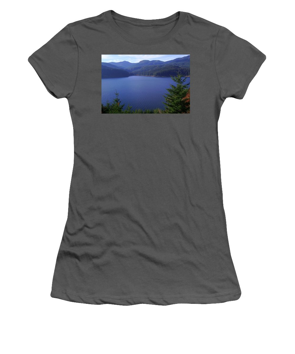 Bloom Women's T-Shirt (Athletic Fit) featuring the photograph Lakes 1 by J D Owen
