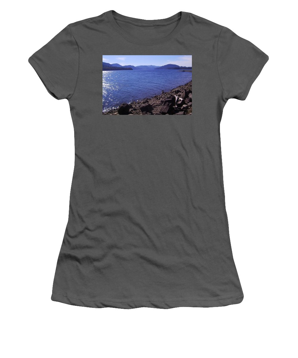Bloom Women's T-Shirt (Athletic Fit) featuring the photograph Lakes 2 by J D Owen