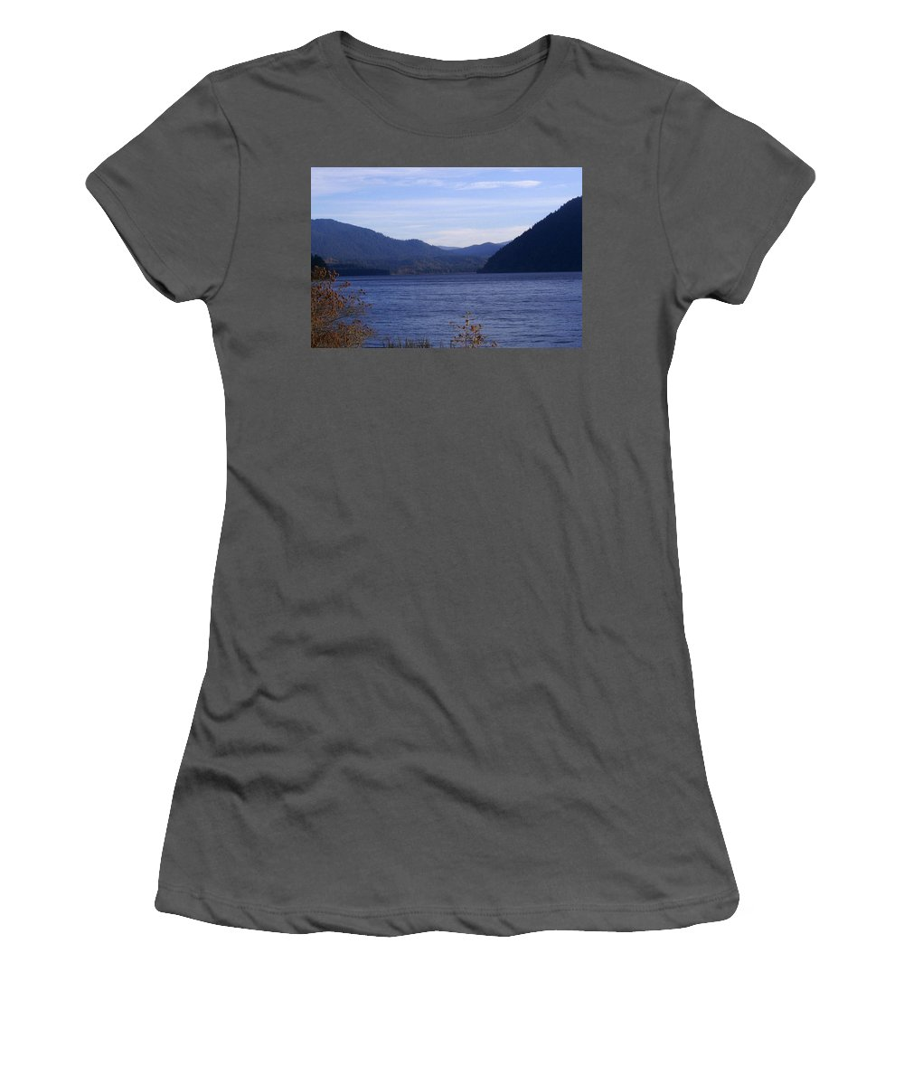Bloom Women's T-Shirt (Athletic Fit) featuring the photograph Lakes 5 by J D Owen