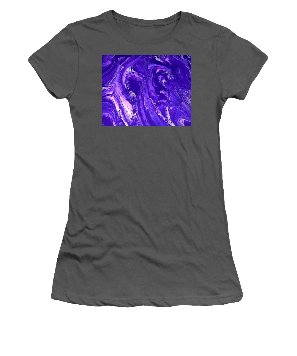 Original Women's T-Shirt (Athletic Fit) featuring the painting Abstract 22 by J D Owen