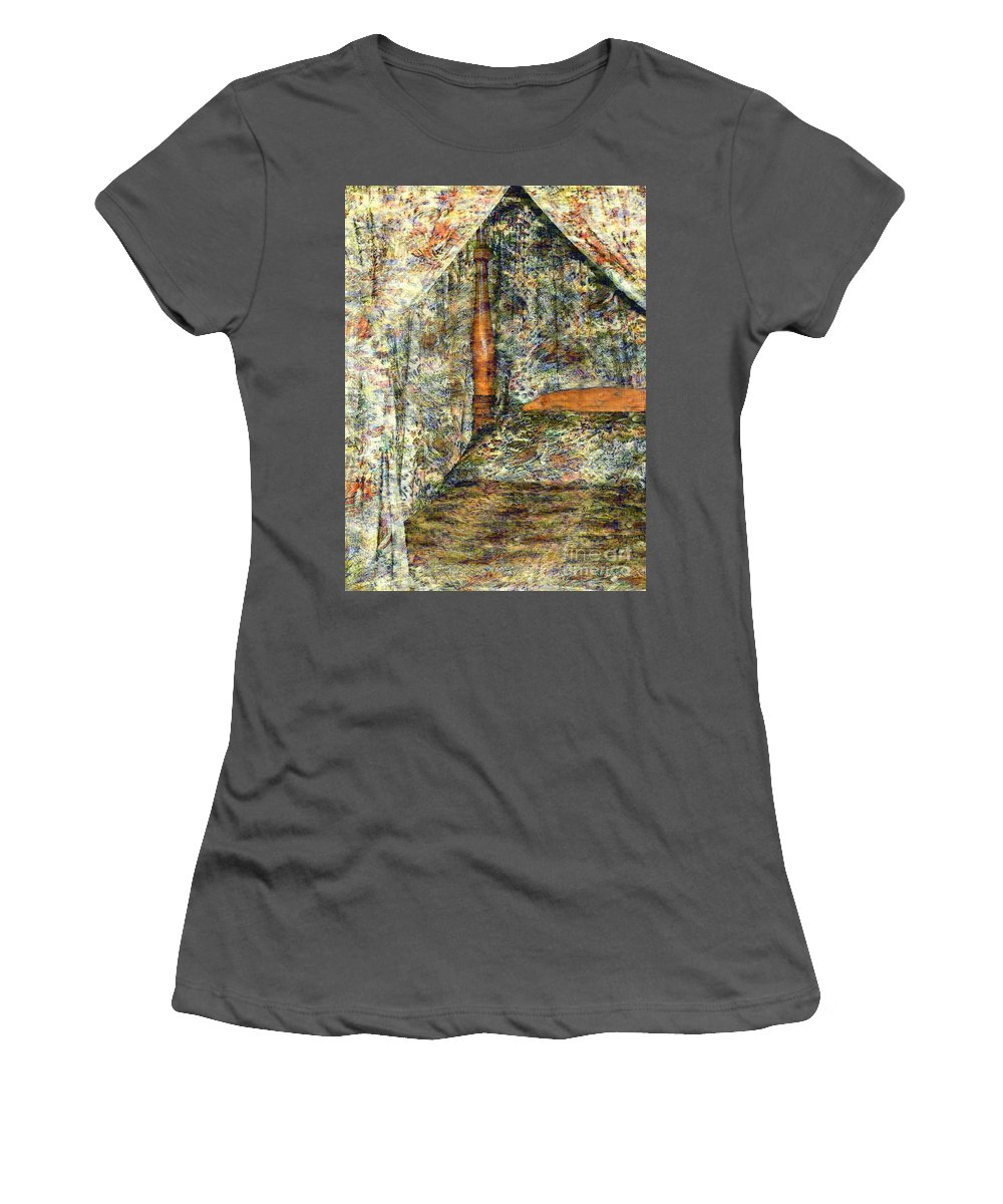 Antiques Women's T-Shirt (Athletic Fit) featuring the painting A Profusion Of Chintz by RC DeWinter