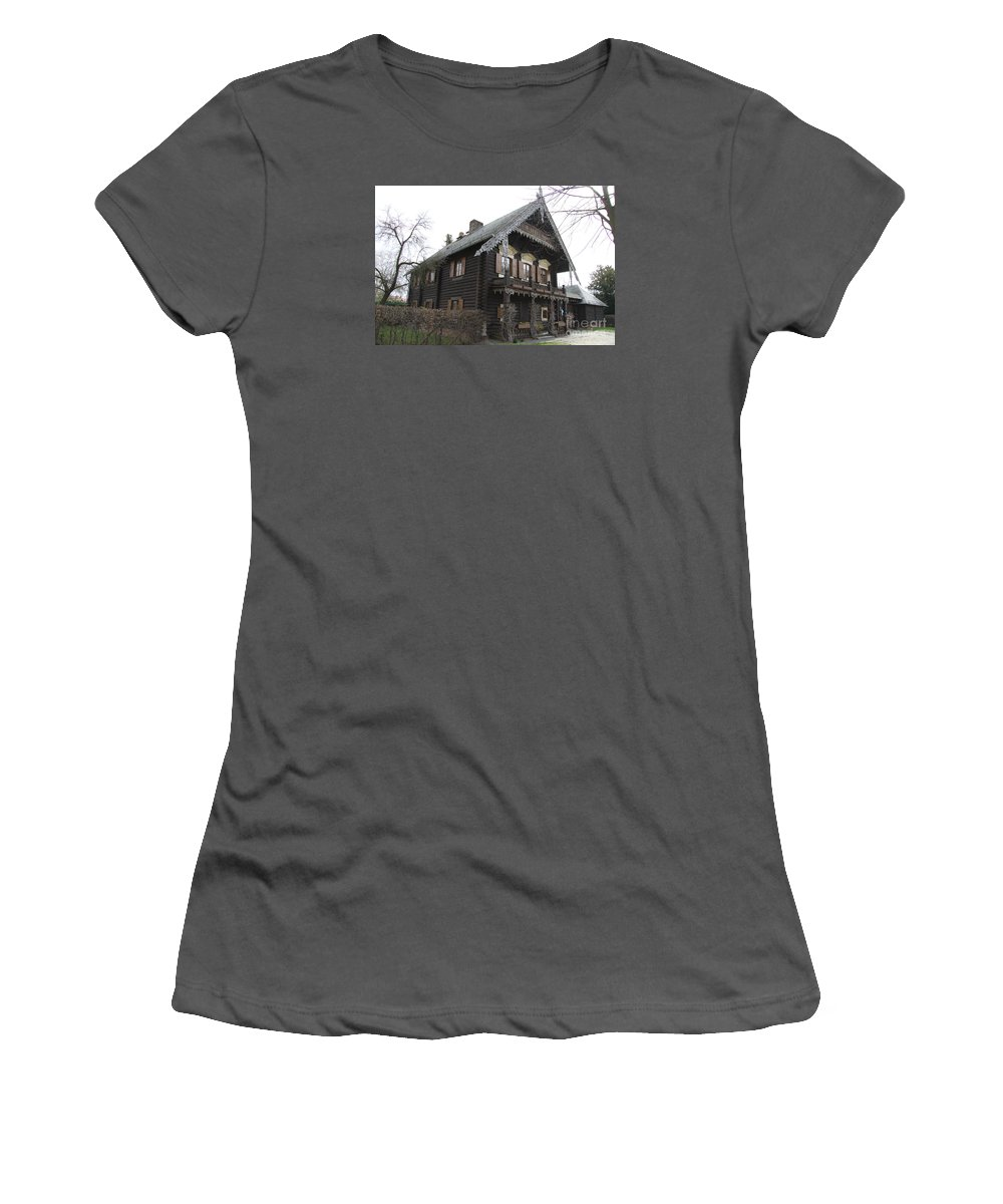 Village Women's T-Shirt (Athletic Fit) featuring the photograph Alexandrowka - Russian Village - Potsdam by Christiane Schulze Art And Photography