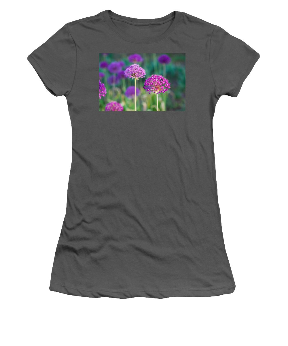 Flower Women's T-Shirt (Athletic Fit) featuring the photograph Allium Flowers - Featured 3 by Alexander Senin