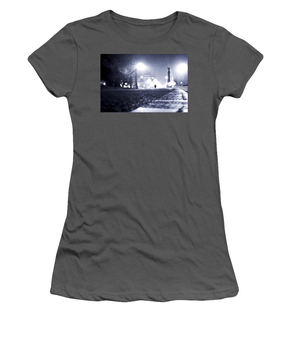 New York City Women's T-Shirt (Athletic Fit) featuring the photograph Alone Brooklyn Nyc Usa by Sabine Jacobs